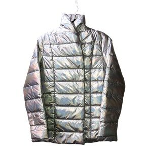 J.McLaughlin Silver Solid Autumn Puffer Jacket